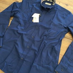 BURBERRY LONDON ENGLAND NAVY BLUE LONGSLEEVE SHIRT
